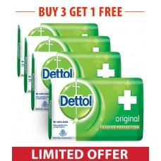 Dettol Original Soap 75g Multipack (Pack of 3 + 1 Free)