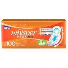 Whisper Choice Ultra Sanitary Napkin with Wings (XL) 20 pads