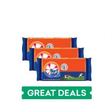 Surf Excel Stain Eraser Detergent Bar - Pack of 3x150g