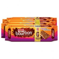 Britannia Bourbon Original Cream Biscuits 120 g (Pack of 5)