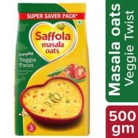 Saffola Veggie Twist Instant Masala Oats 500 g